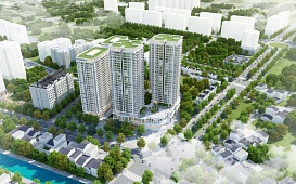 Project: High-rise Building of Housing combined Commercial Services, Transaction Office – Iris Garden